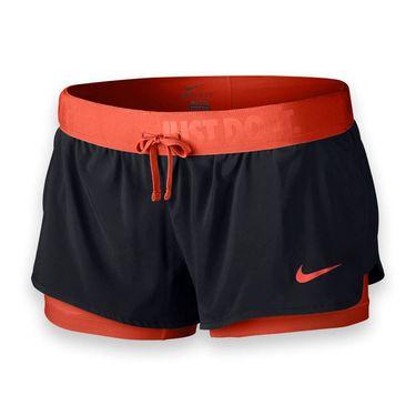 Nike Full Flex 2 In 1 Short - Black/Lite Crimson