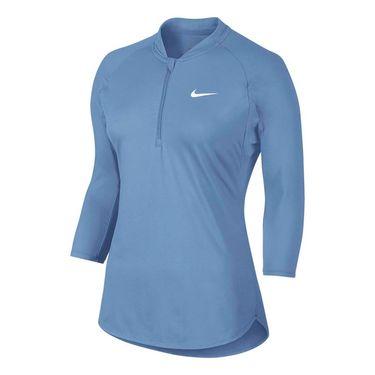 Nike Court Dry 1/4 Zip - Light Blue
