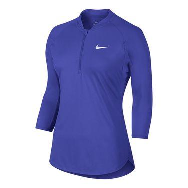 Nike Court Dry 3/4 Sleeve 1/4 Zip - Paramount Blue