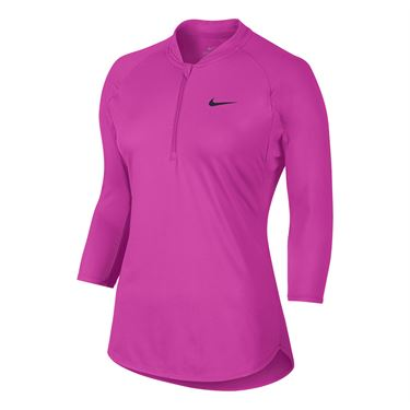 Nike Court Dry 1/4 Zip - Fire Pink
