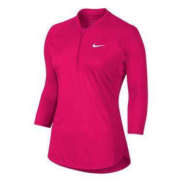 Nike Court Dry 1/4 Zip - Fuschia Flux