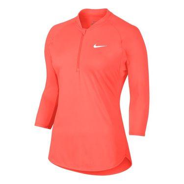 Nike Court Dry 3/4 Sleeve 1/2 Zip - Hyper Orange