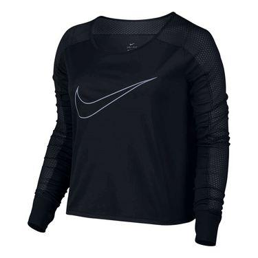 Nike Long Sleeve Running Top - Black
