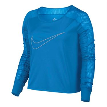 Nike Long Sleeve Running Top - Light Photo Blue