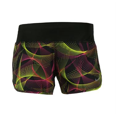 Nike Flex Running Short - Black/Volt