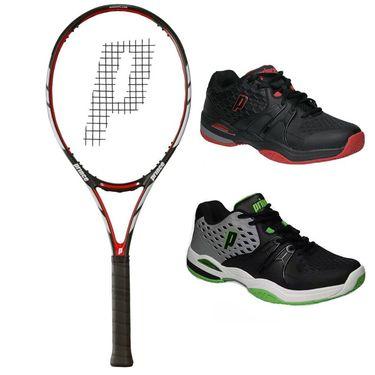 Prince Warrior 100 ESP Tennis Racquet, Tennis Shoe Bundle