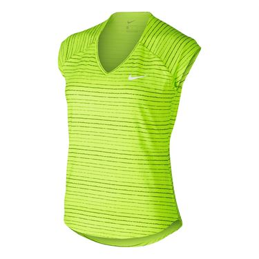 Nike Pure Printed Top - Volt/White