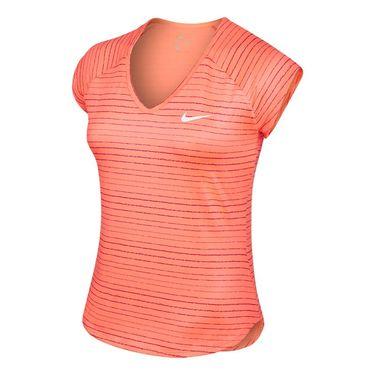 Nike Pure Printed Cap Sleeve Top - Bright Mango