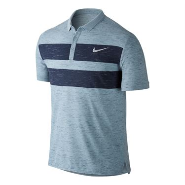 Nike Court Dry Advantage Polo - Blue Grey/Midnight Navy