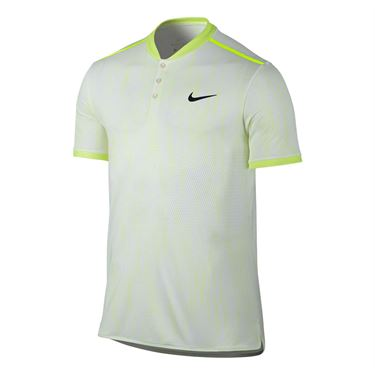 Nike Court Dry Advantage Printed Polo - White/Black
