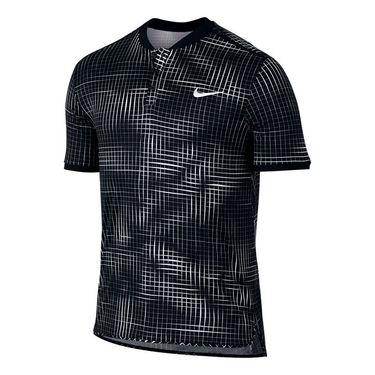Nike Court Advantage Printed Polo - Black