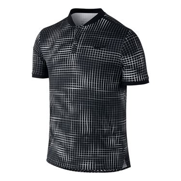 Nike Court Advantage Printed Polo - Black
