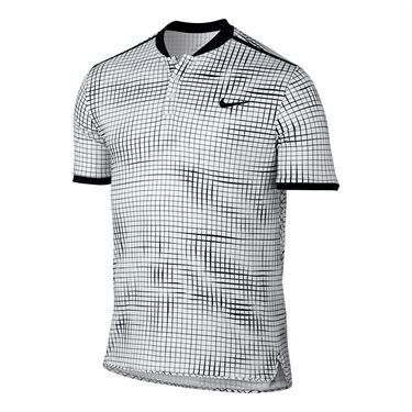 Nike Court Advantage Printed Polo - White