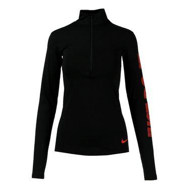 Nike Pro Warm Up Top - Black/Ember Glow