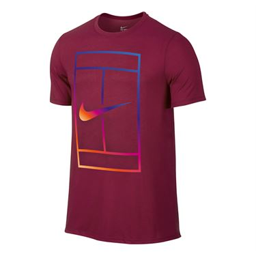 Nike Court Iridescent Tee - Noble Red
