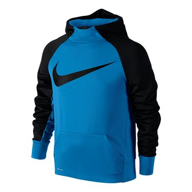 Nike Boys Therma Training Hoodie - LT Photo Blue/Black