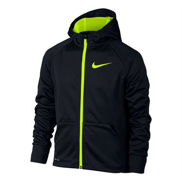 Nike Boys Therma Training Hoodie - Black