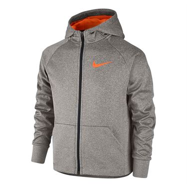 Nike Boys Therma Training Hoodie - Dark Grey Heather