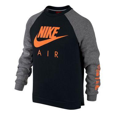 Nike Boys Sportswear Crew - Black/Carbon Heather