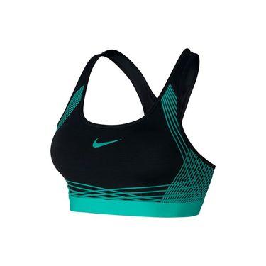 Nike Pro Hyper Classic Padded Sports Bra - Black/Hyper Jade