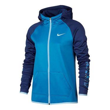 Nike Girls Therma Training Hoodie - Light Photo Blue
