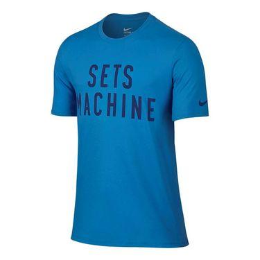 Nike Sets Machine Training Tee - Light Photo Blue/Deep Royal Blue