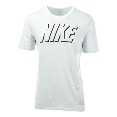 Nike Dri Fit Cotton Static Block Training Tee - White