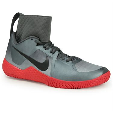 Nike Flare Womens Tennis Shoe - Dark Grey/Black/Siren Red/Wolf Grey