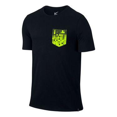 Nike Court Pixel Pocket Tee - Black/Volt