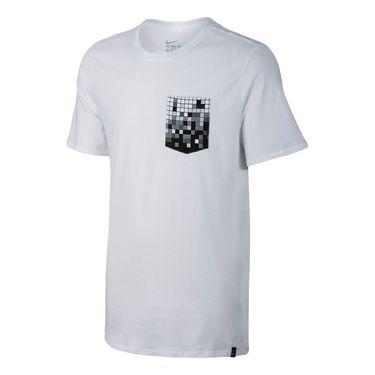 Nike Court Pixel Pocket Tee - White/Black