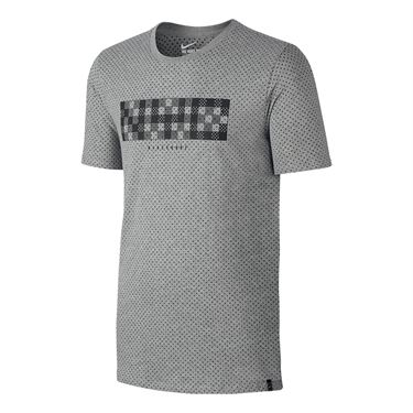 Nike Court NYC Tee - Dark Grey Heather/Black