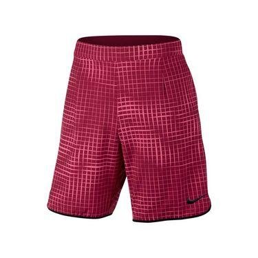 Nike Court Printed Gladiator Short - Noble Red/Black