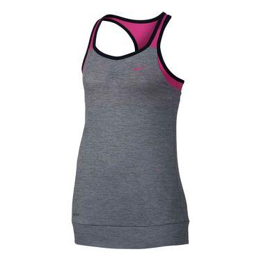 Nike Girls Training Tank - Cool Grey/Vivid Pink