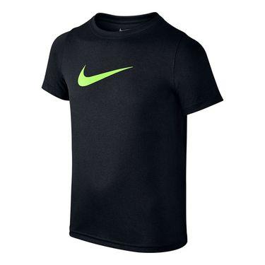 Nike Boys Dry Training Crew - Black/Ghost Green