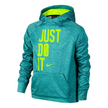 Nike Boys Therma Training Hoodie - Rio Teal/Volt