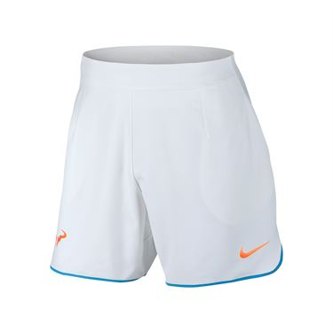 Nike Court Flex Rafa Gladiator Short - White/Light Photo Blue/Total Orange