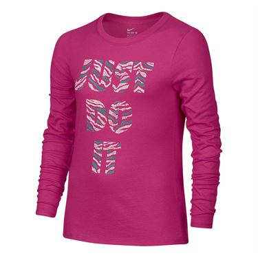 Nike Girls JDI Tiger Training Top - Vivid Pink