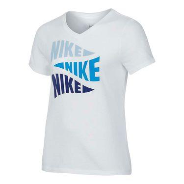 Nike Girls Varsity Art Training Tee - White