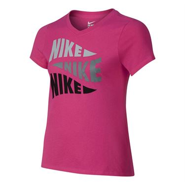 Nike Girls Varsity Art Training Tee - Vivid Pink