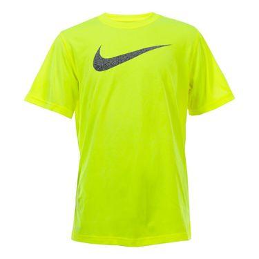 Nike Boys Dry Talistatic Swoosh Training Tee - Volt