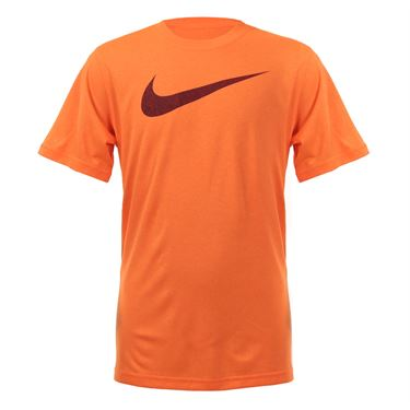 Nike Boys Dry Talistatic Swoosh Training Tee - Total Orange