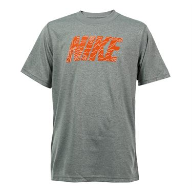 Nike Boys Dry Topography Training Tee - Dark Grey Heather