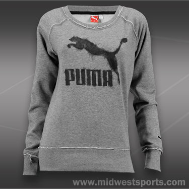 Puma French Terry Crew-Medium Grey Heather