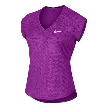 Nike Pure Short Sleeve Top - Vivid Purple