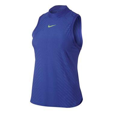 Nike Court Dry Slam High Neck Tank - Paramount Blue