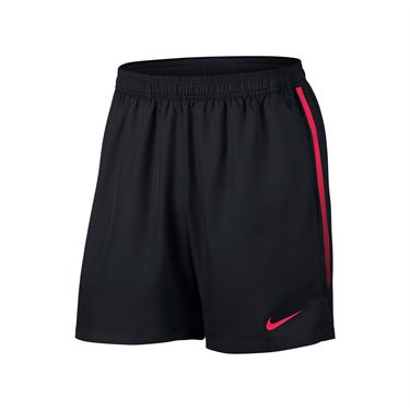 Nike Court Dry 7 Inch Short - Black/Lava Glow