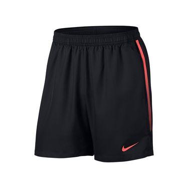 Nike Court Dry 7 Inch Short - Black/Hot Punch