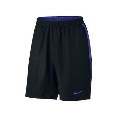Nike Court Dry 9 Inch Short - Black/Paramount Blue