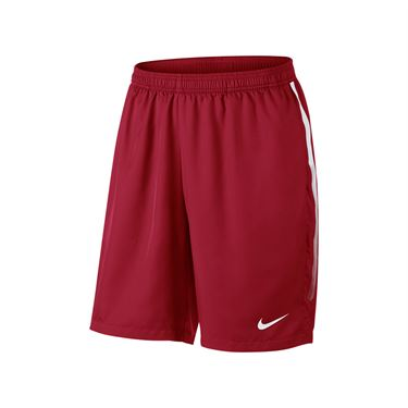 Nike Court Dry 9 Inch Short - Gym Red/White