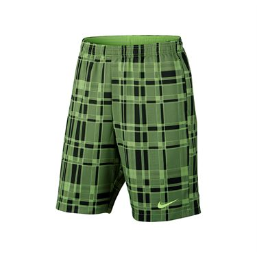Nike Dry Court 9 Inch Plaid Short - Ghost Green